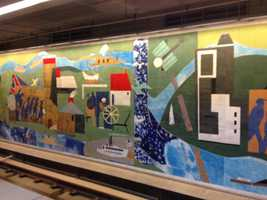 The mural in Gateway Station