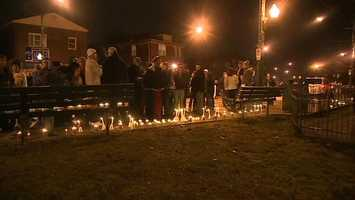 A vigil was held on Brookline Boulevard in Brookline, the neighborhood where Karissa Kunco grew up.