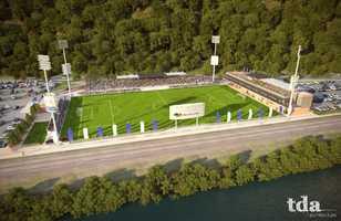Artist's rendering of new stadium