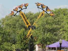 The Aero 360: Riders swing back and forth - higher and higher.  The ride ends by spinning riders the full 360 degrees.
