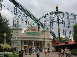 Lost Kennywood was added to the park in 1995. Six rides are located inside. Here's the entrance.