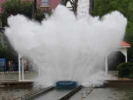 """Pittsburg Plunge is a """"Shoot-the-Chute"""" ride that takes its name from a brief period of time when Pittsburgh dropped the """"h"""" from its name."""