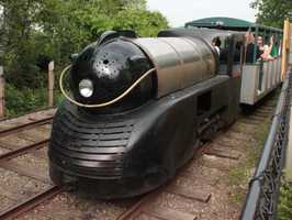 The Olde Kennywood Railroad dates back to the 1940s. It travels along the rear cliff of the park.