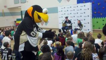 Pascal Dupuis at Sloan Elementary School
