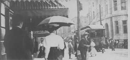 A look at Main Street Greensburg around 1912.