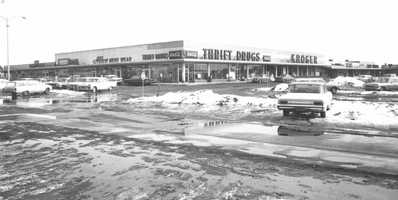 1960s - Snow on the ground at the Miracle Mile Shopping Center