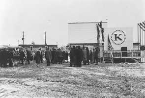 1960 - Groundbreaking for the new Kaufmann's store in Monroeville.
