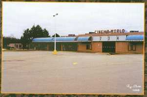 1990 - By now, the movie theater on the Monroeville Mall grounds had been renamed Cinema World and was closed. It was a Carmike Cinemas theater when it was finally shut down in the late '90s.