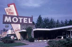 1970s - William Penn Motel on Route 22 was popular with motorists using the Pennsylvania Turnpike.