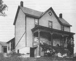The Vetter Homestead was home to Simon Vetter and his family, who came from Germany to the area in the 1840s. His family worked in the coal mine in nearby Sandy Creek and operated a successful horse teaming business, hauling much of the equipment used in Penn Hills' drilling operations. The photo above is from around 1890.