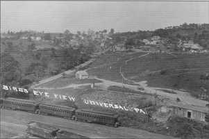 An overhead photo of the Universal section of Penn Hills. The area was home to many of the coal miners who worked in the many mines of the eastern section of Penn Hills. The small village was known as Clarksville. The Union Railroad ran along the western edge of the village.