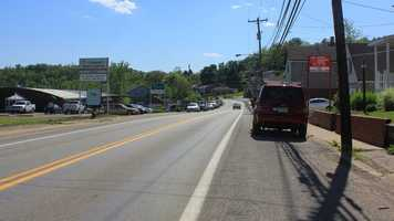This is a modern day shot along what is Leechburg Road.