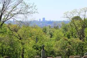 You have a clear view of the Pittsburgh skyline from certain parts of the cemetery.