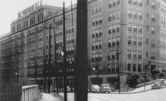 The Morrowfield Hotel was completed in 1923 and hosted celebrities and entertainers such as Al Jolson and the Marx brothers. It's pictured here in 1937.