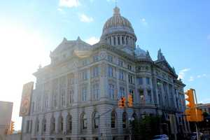 A modern day look at the Westmoreland County Courthouse.