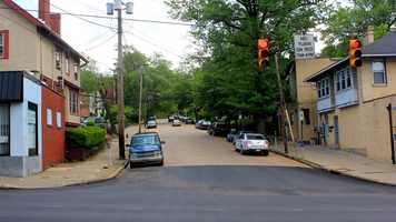 Here is the view from the other end of Phillips Avenue, looking east toward Shady Avenue.