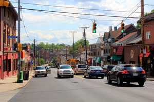It's hard to believe that, despite being well over 100 years old, Squirrel Hill is one of the city of Pittsburgh's newer neighborhoods. For many years, it was heavily wooded and its hilly terrain made it difficult to access from the city. (Pictured here: Murray Avenue, looking south at the corner of Hobart Street.)