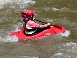 It provides a good area for amateur kayakers to get experience. (supervision is recommended)