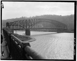 April 1970 - View from the Northwest, Spanning Monongahela River at Point of Pittsburgh