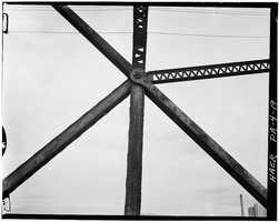 April 1970. Detail of the superstructure - North Side Point Bridge, Spanning Allegheny River at Point of Pittsburgh
