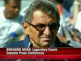 State police said Paterno was not a target of the ongoing investigation and not facing criminal charges.