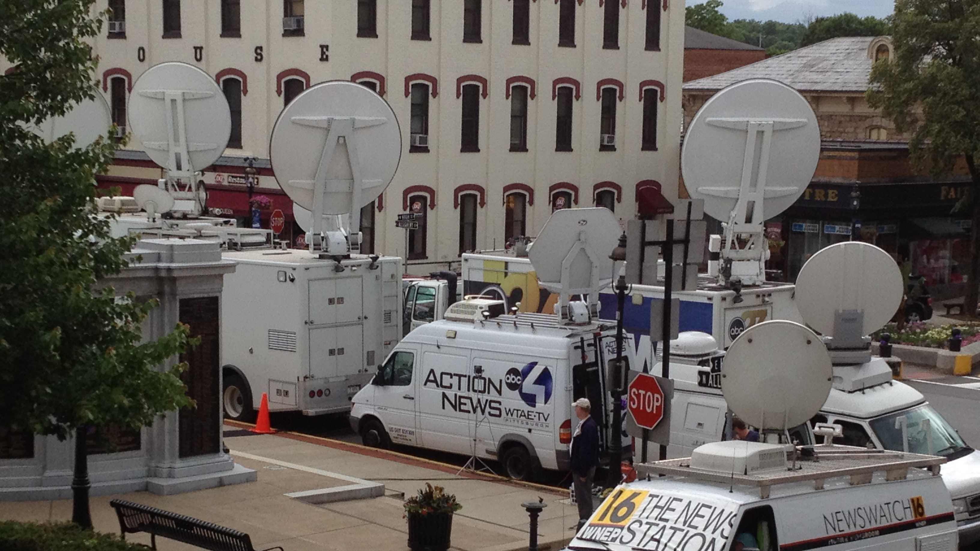 TV news trucks