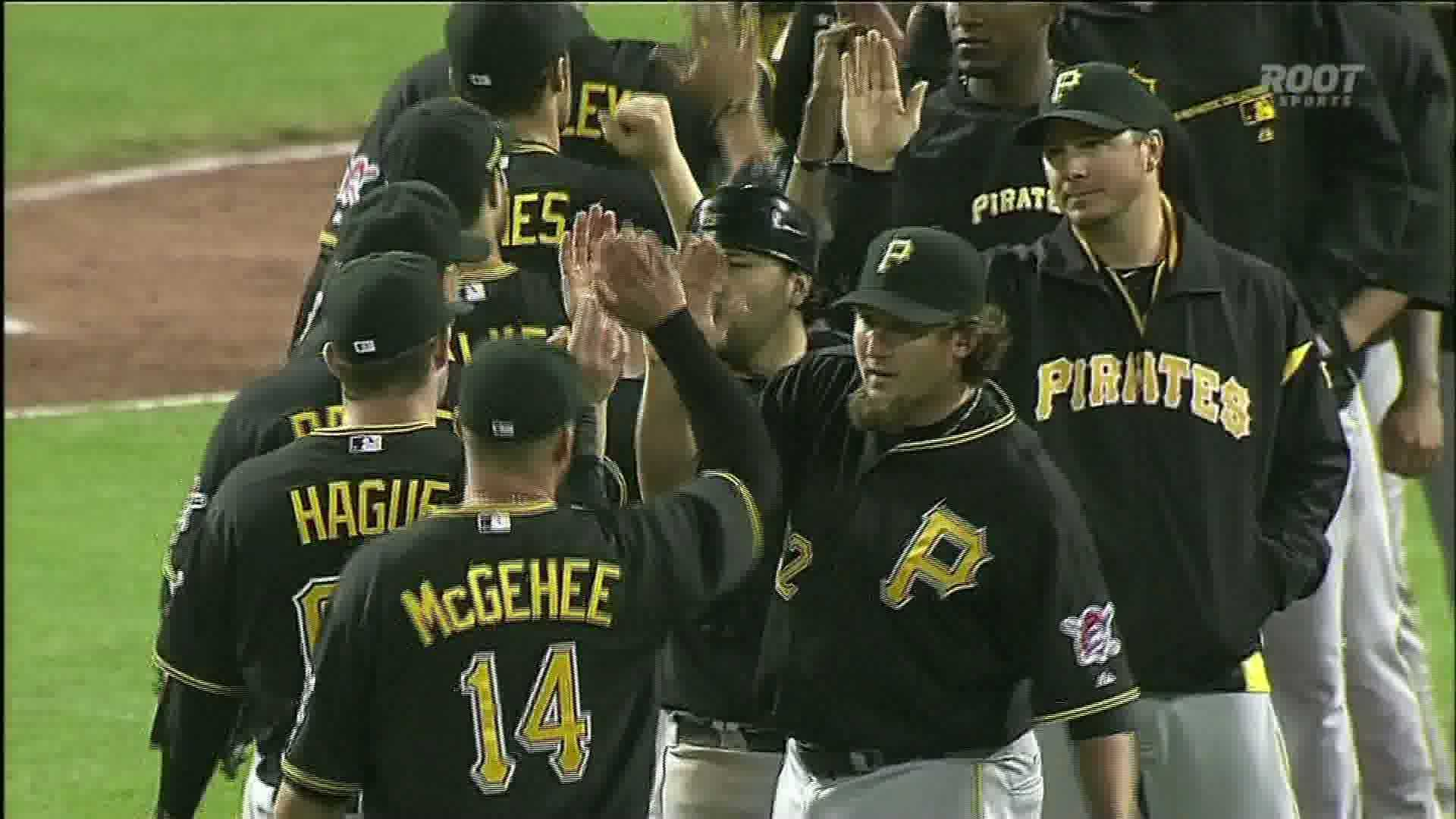 Pirates postgame handshakes