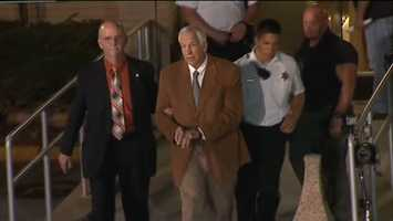 """""""Rot in hell!"""" - Yelled to Sandusky as he was taken to a sheriff's cruiser to be driven to the Centre County Correctional Facility."""
