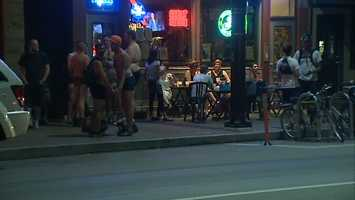 The group PghUnderwear Bike Ride said Thursday night's event was a fundraiser for a bike rider who was seriously hurt in a hit-and-run crash in Lawrenceville.