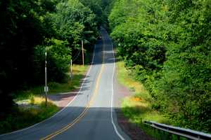 This is the road that replaced Route 61 into Centralia. It is a small, two lane roadway that climbs a steep hill.