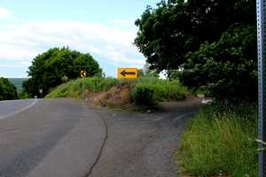 Here's a peek behind the barriers hiding the abandoned section of Route 61.