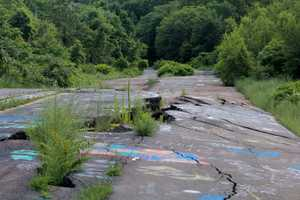 A look at what used to be Route 61. The heat from the fire in the coal mine caused the road to buckle, crack and collapse.