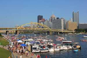 Thousands of people made Pittsburgh's North Shore look like a Spring Break destination Saturday, hours before the Kenny Chesney concert.