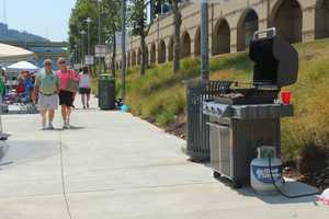 Nothing strange about seeing a grill next to PNC Park on the riverwalk...