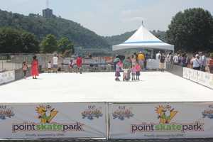 This artificial ice rink is one of the attractions of this year's Three Rivers Regatta.