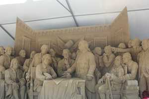 One of the most popular features of the event: the Sandsational Sand Sculpture. This is a look at the 2012 sculpture.