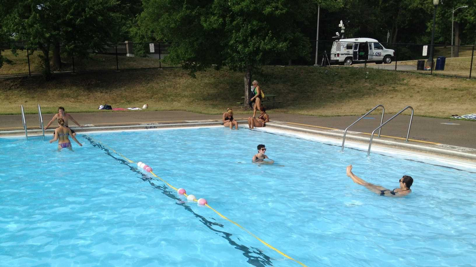 Schenley Park pool swimmers