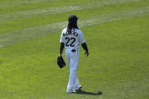 McCutchen played 108 games in his rookie season. He had 124 hits, stole 22 bases, slammed 12 home runs and had a batting average of .286.