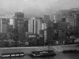 This was a look at the Pittsburgh skyline in the early 1900s&#x3B; this photo was taken from Mount Washington.