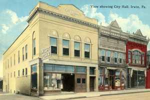 City Hall in Irwin, located on Main Street