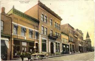 East side of Main Street in Irwin, looking south between 2nd and 3rd Street.