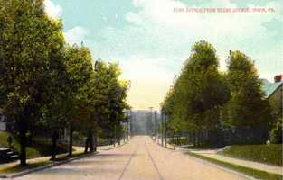 A look down Pennsylvania Avenue from Cedar Avenue in Irwin.