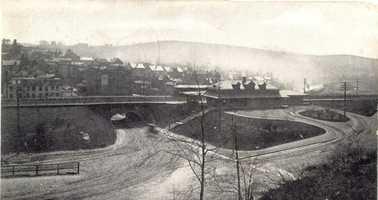 September 1907: Overlooking Irwin and Pennsylvania Railroad Station