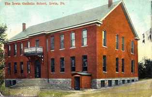 Irwin Catholic School on the corner of Walnut and 2nd Street