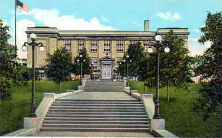 Norwin Union High School on Pennsylvania Avenue in Irwin (later became Norwin Middle School East)