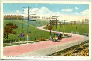 August 1921: A look at the Lincoln Highway (Route 30) between Irwin and East Pittsburgh