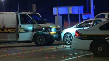 Allegheny County 911 dispatchers said police tried to pull the car over shortly after midnight, suspecting that the driver shot out some windows on Mount Pleasant Road in Northview Heights.