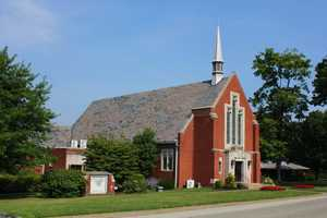 A look at the larger church located next door.