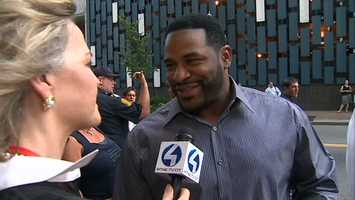 Former Steelers running back Jerome Bettis came back to Pittsburgh for the big event. He said he wanted to support his buddy Ward.