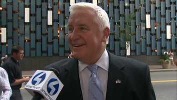 Gov. Tom Corbett said he met Hull, and they talked about Pittsburgh.